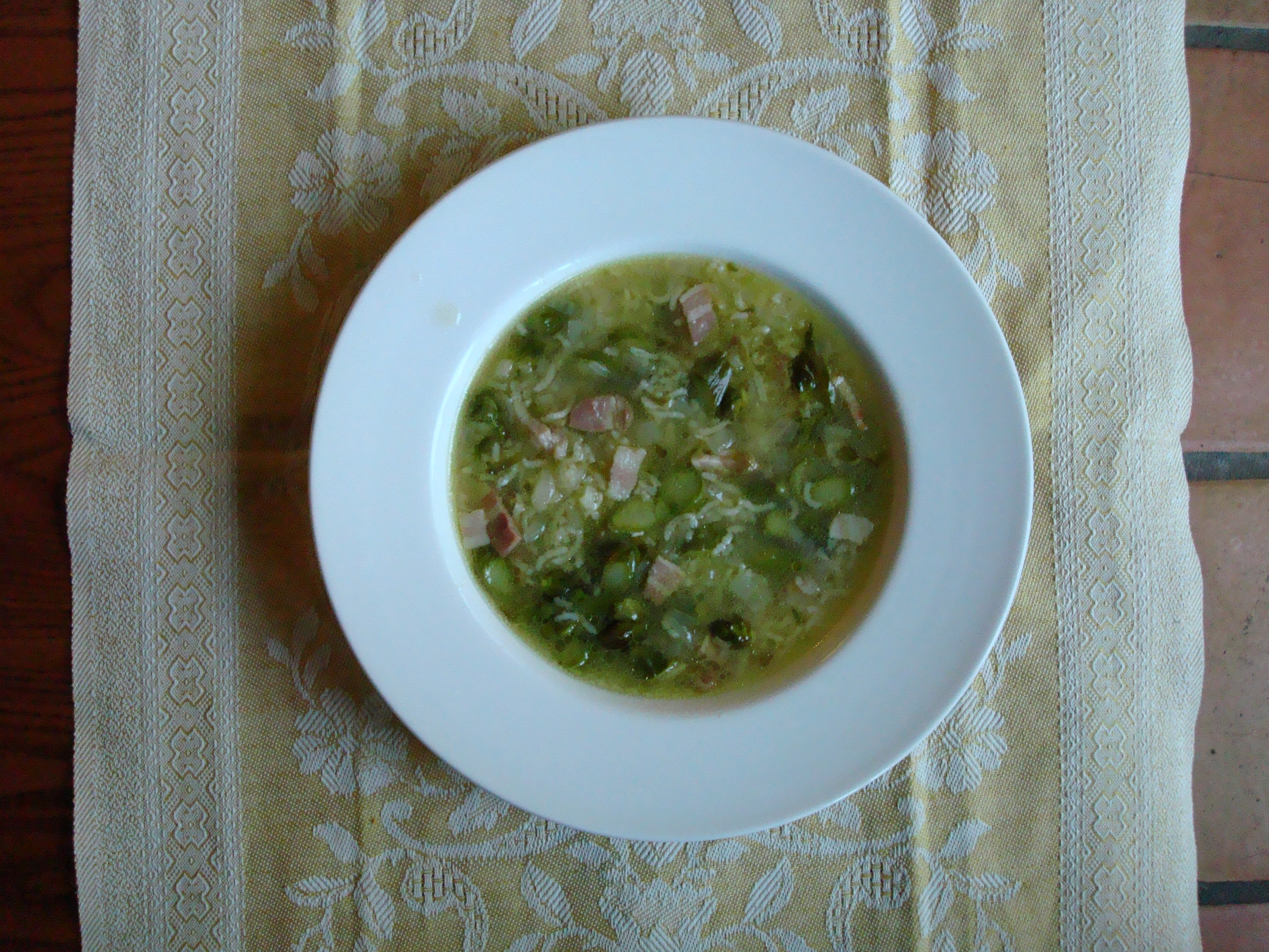 Judy Rodgers\'s Asparagus & Rice Soup with Pancetta and Black Pepper ...
