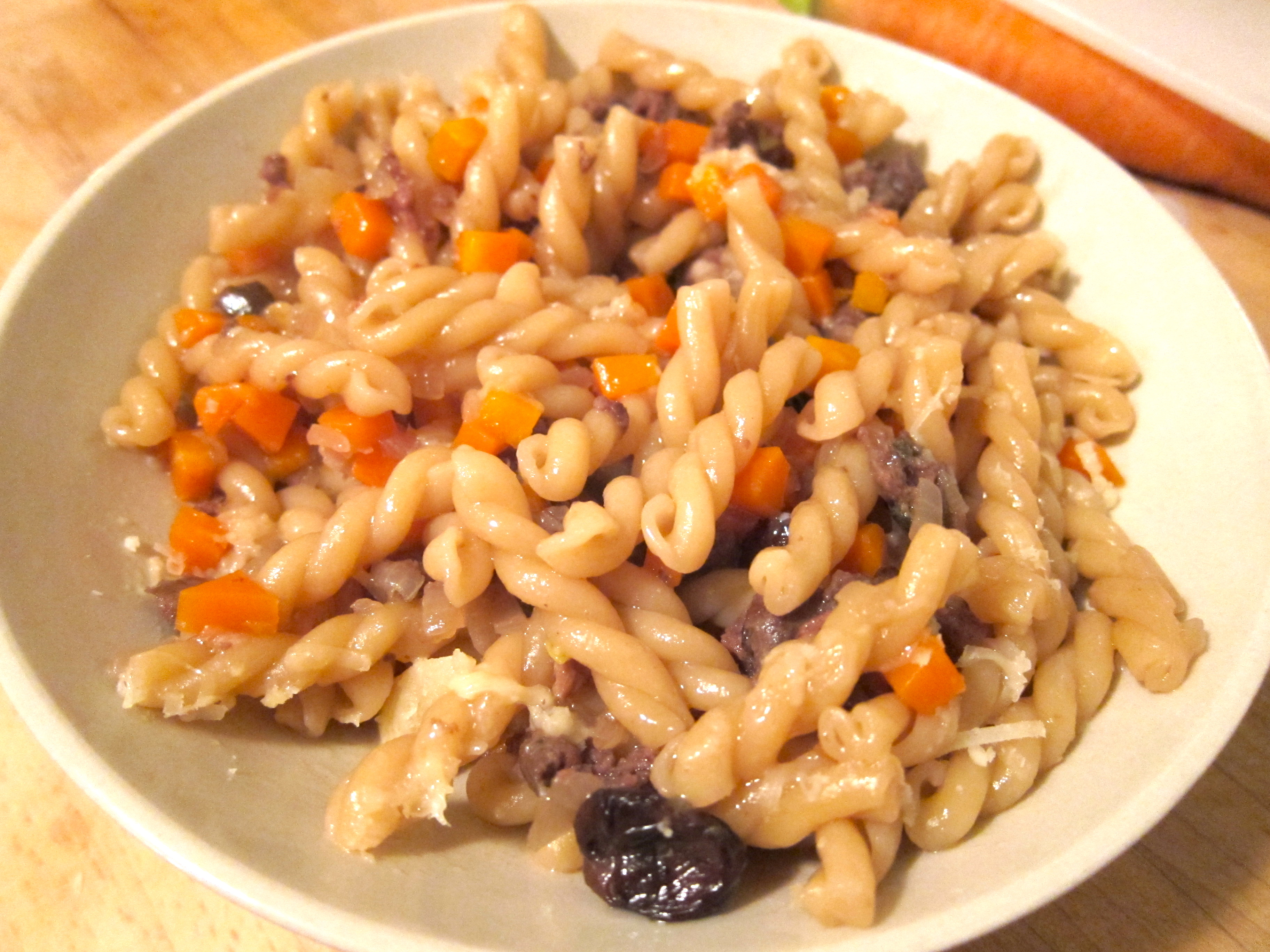 Pasta with Duck Sausage and Carrots Risotto-Style | Shadowcook